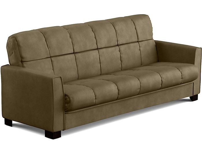 Jax Sage Microfiber Sofa Bed Large
