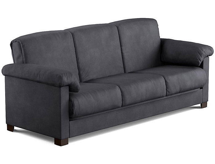 Dan Grey Microfiber Sofa Bed Large