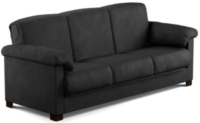 Dan Microfiber Sofa Bed, Black, swatch