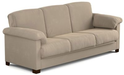 Dan Microfiber Sofa Bed, Beige, swatch