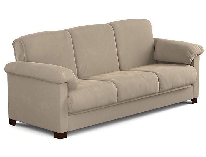 Dan Beige Microfiber Sofa Bed Large