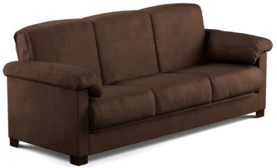 Dan Microfiber Sofa Bed, Brown, swatch