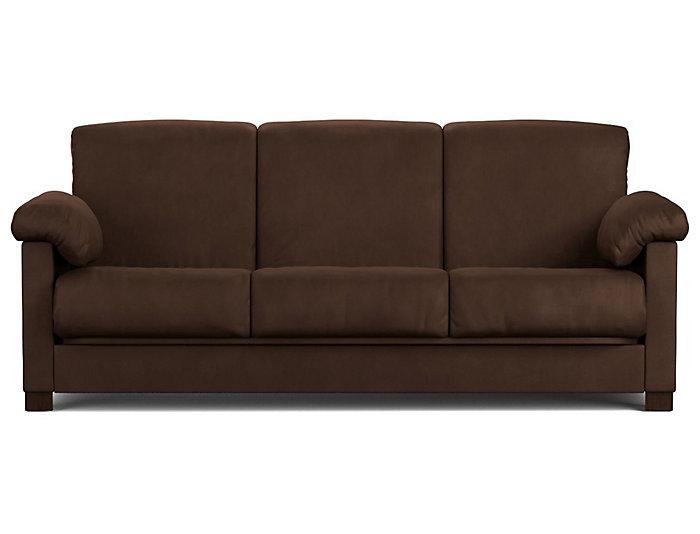 Dan Brown Microfiber Sofa Bed Large