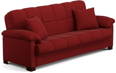 Jay Microfiber Sofa Bed, Red, swatch