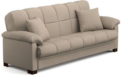 Jay Microfiber Sofa Bed, Beige, swatch
