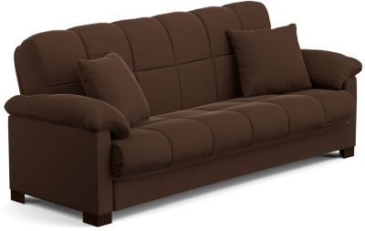 Jay Microfiber Sofa Bed, Brown, swatch