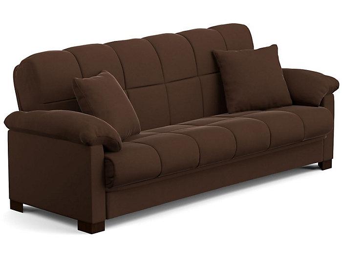Jay Brown Microfiber Sofa Bed Large