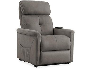 Clara Grey Lift Chair, , large