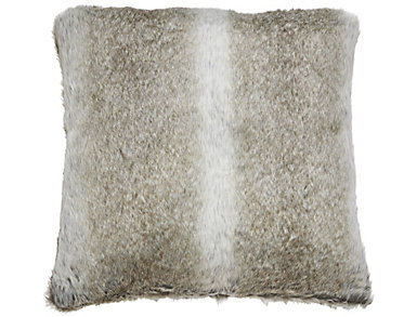 Acoma Grey Brown Fur Pillow, , large
