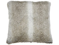 shop Acoma Grey Brown Fur Pillow