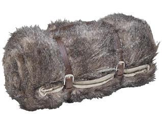 Navajo Grey Fur Throw, , large