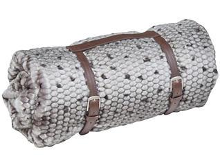 Ponca Grey Fur Throw, , large