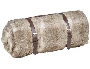 Taos Brown Fur Throw, , large