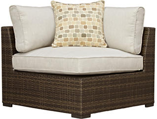 Dover Corner Unit with Pillow, Brown, , large