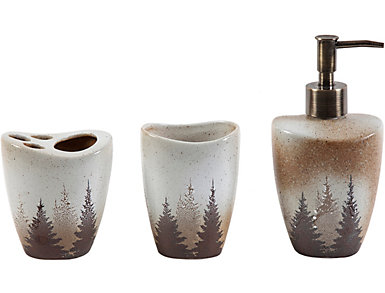 3PC Clearwater Pines Bath Set, , large