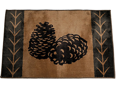 """Pine Cone Rug  24""""X36"""", , large"""