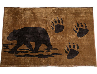 "Bear Print Rug  24""X36"", , large"