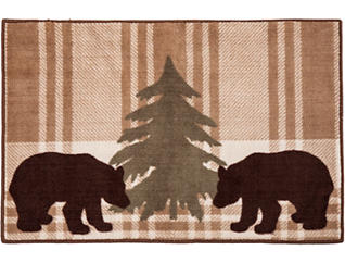 Bear Plaid Rug, 24x36, , large