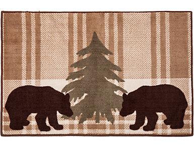 Bear Plaid Rug, 24x36, , large