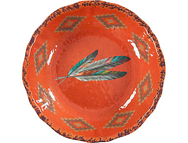 Feather Serving Bowl, 1 Pc, , large
