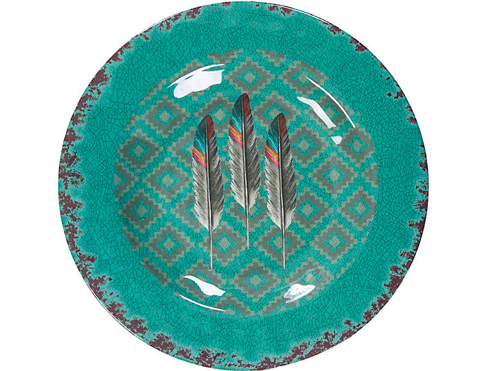 Feather Salad Plate 4 Pc Set, , large