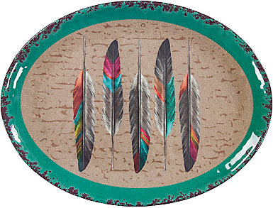 Feather Serving Platter, 1 pc, , large