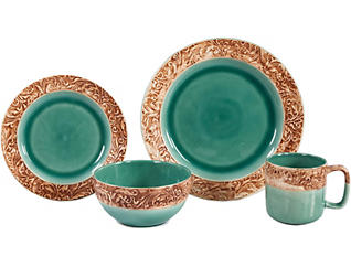 Wyatt 16 Piece Dinnerware Set, , large