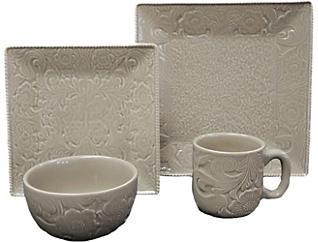 Savannah Taupe 16PC Dinnerware, , large