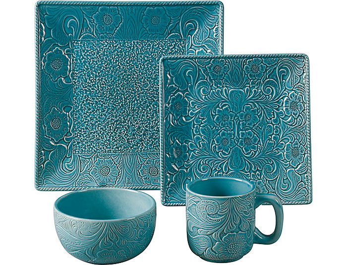 Savannah Turquoise 16 PC Set, , large