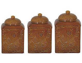 Savannah Mustard Canister Set, , large