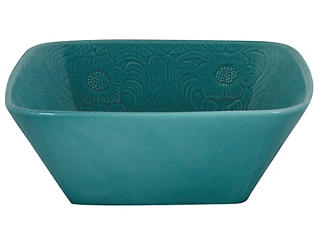 Savannah Turquoise Serve Bowl, , large