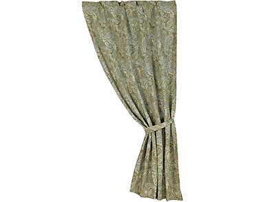 Chenille Paisley Curtain, , large
