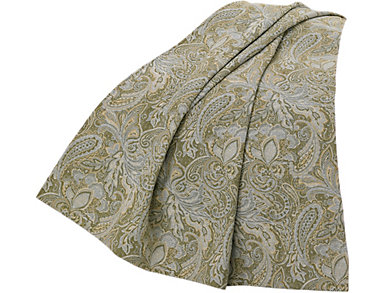 Chenille Paisley Throw, , large