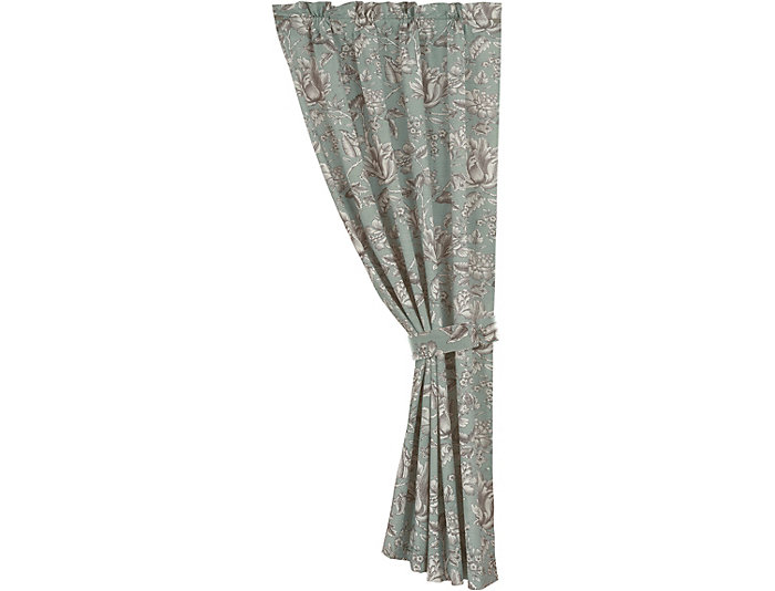 Floral Curtain with Tieback, , large