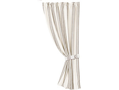 Stripe Curtain with Tie Backs, , large