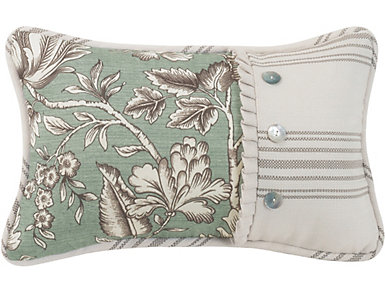 Printed Floral Pillow, , large