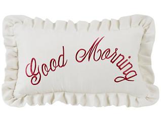 Good Morning 12x21 Pillow, , large