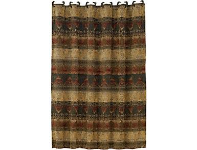 Bear Sierra Shower Curtain, , large