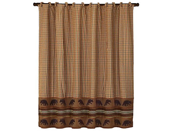 Bear Shower Curtain, 72x72 | Art Van Home