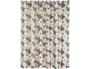 Pinecone Shower Curtain, 72x72, , large