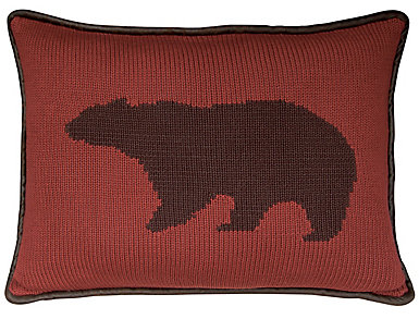 Knitted Bear 16x21 Pillow, , large