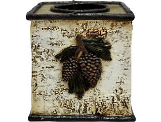 Pinecone Tissue Box, , large