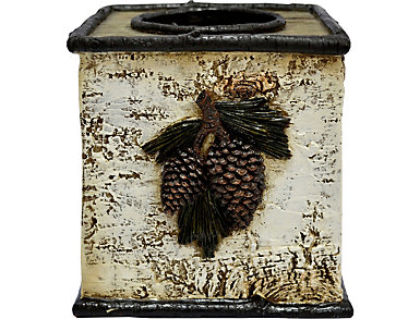 Pinecone Tissue Box, , large
