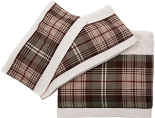 3PC Forest Pines Plaid Towels, , large