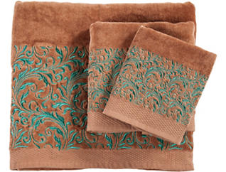 Wyatt 3PC Embroidery Towel Set, , large