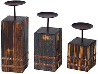Bear Candleholders Set of 3, , large