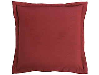 Red Suede Euro Sham, , large