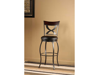 Stockport Cherry Swivel Barstool, , large