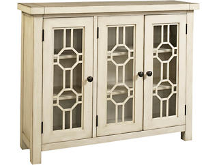 Bayside White 3 Door Cabinet, , large