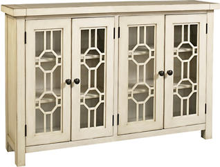 Bayside White 4 Door Cabinet, , large